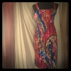 NWT NICE BRIGHT COLORED SUNDRESS